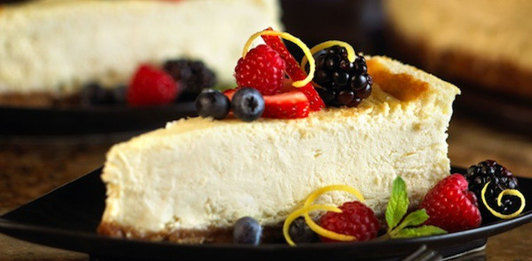 Belgioioso Mascarpone cheesecake with berries and citrus peel