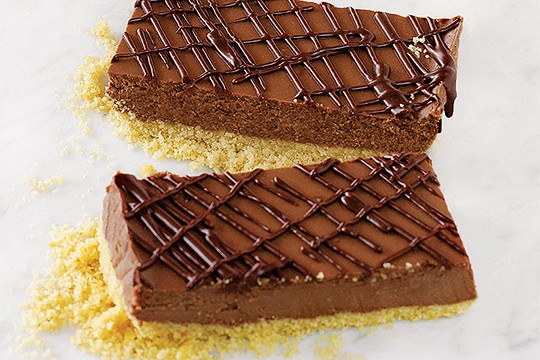 Bittersweet Chocolate Cheesecake Bars